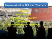 Communication Skills for Teachers - II