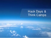 CitSci Association Conference 2017 - Hack Days & ThinkCamps for Citizen Science