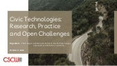Civic Technologies: Research, Practice, and Open Challenges