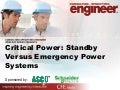 Critical Power: Standby versus emergency power systems