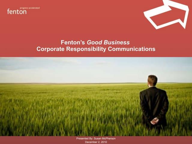 CSR Communications/Good Business