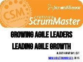 Certified ScrumMaster: class desk, posters and photos