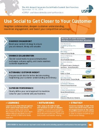 The Corporate Social Media Summit San Francisco - Event Guide