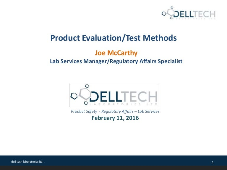 Test Methods for Cleaning Product Validation and