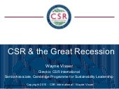 Csr and the great recession