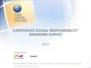 CSR Branding Survey 2010