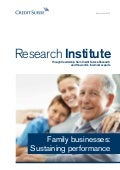 Family Businesses: Sustaining Performance