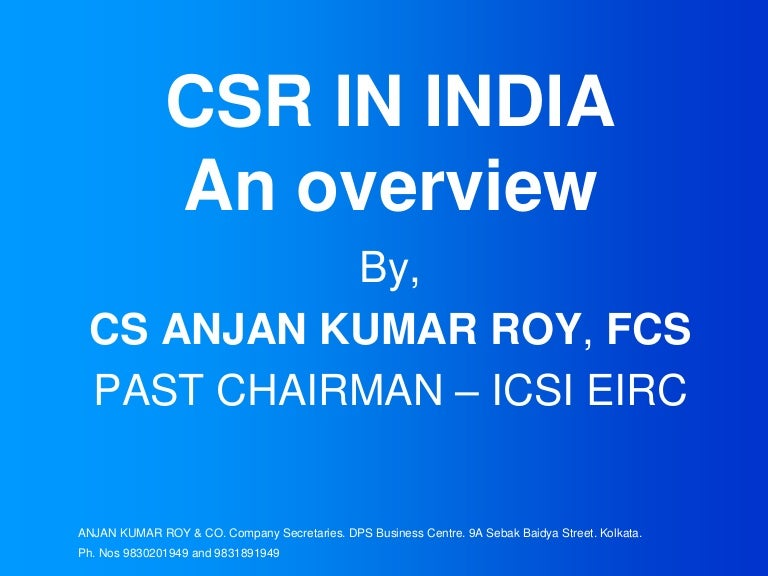 Csr mandate in india |authorstream.