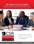 CSR Training Institute.  Information Package