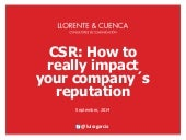 CSR: How to really impact your company´s reputation