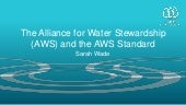 The Alliance for Water Stewardship
