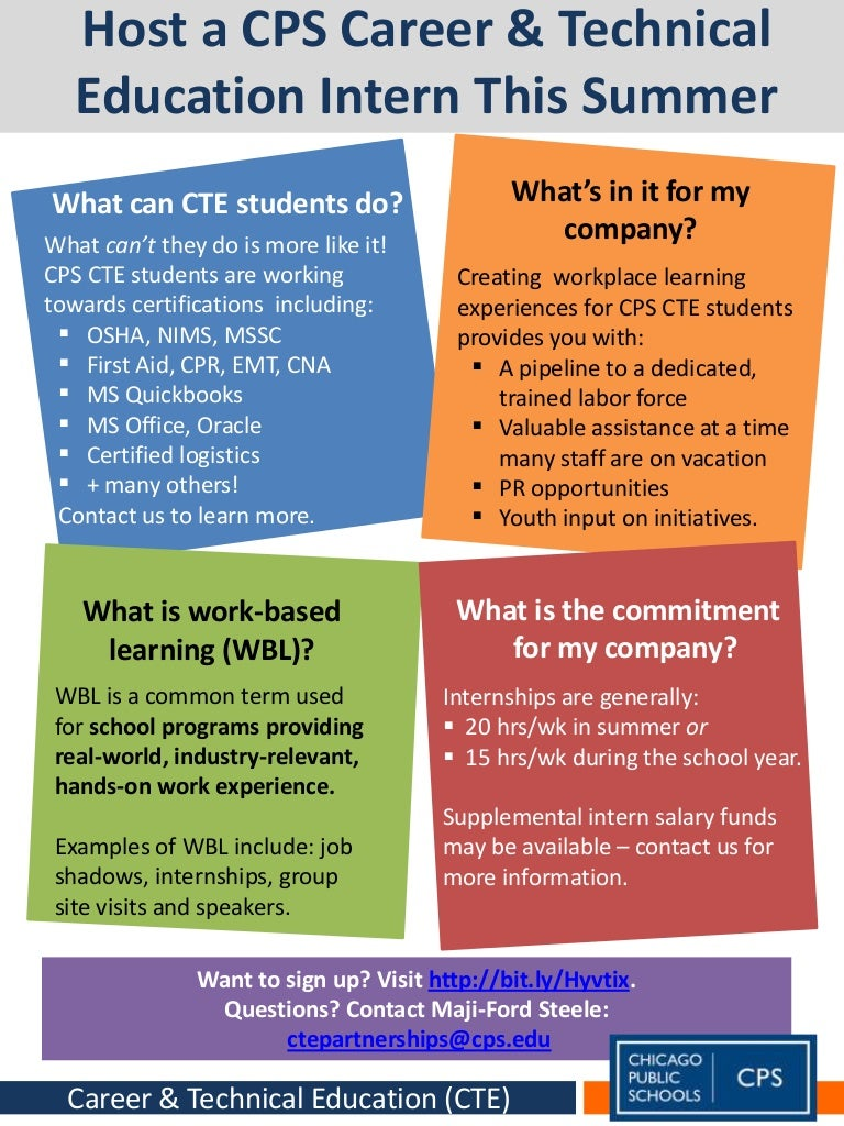 Cte internships flyer xflitez Images