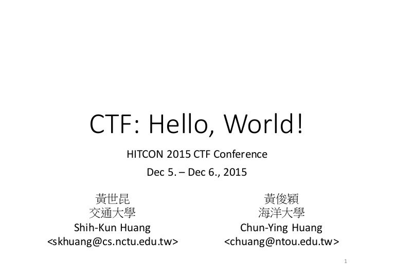 Ctf hello,world!