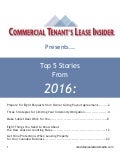 Commercial Tenant's Lease Insider Compendium 2016