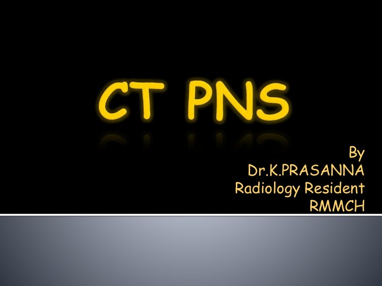 Ct Anatomy Of Para Nasal Sinuses