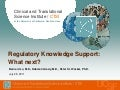 Regulatory Knowledge Support: What's Next?