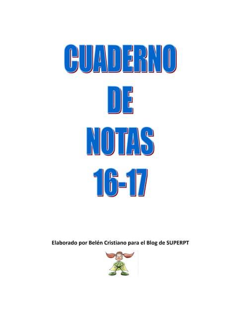 Cuaderno notas 1617