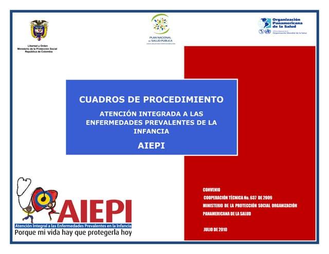 Cuadros de procedimiento AIEPI