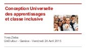 Conception Universelle des apprentissages