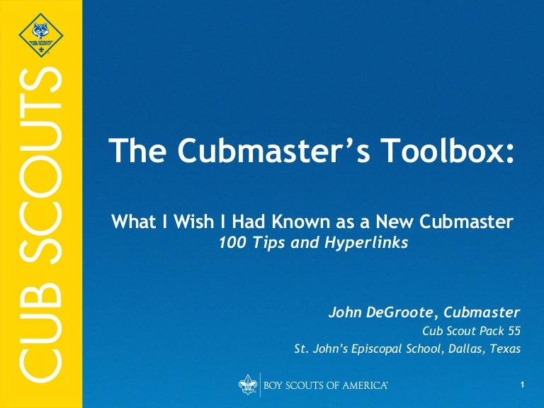 Cubmaster S Toolbox