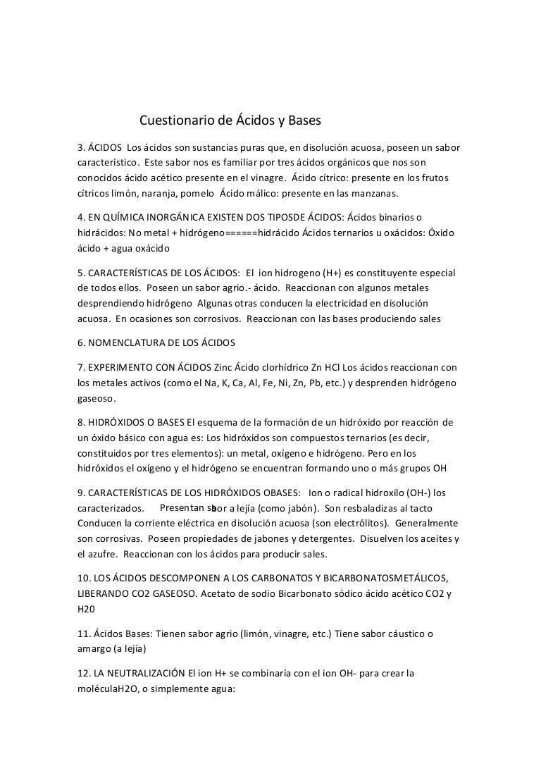 cuestionario de ácidos y bases 1