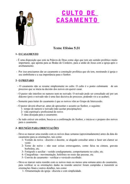 Roteiro Para Casamento Evangélico Por Pr Gesiel De Souza