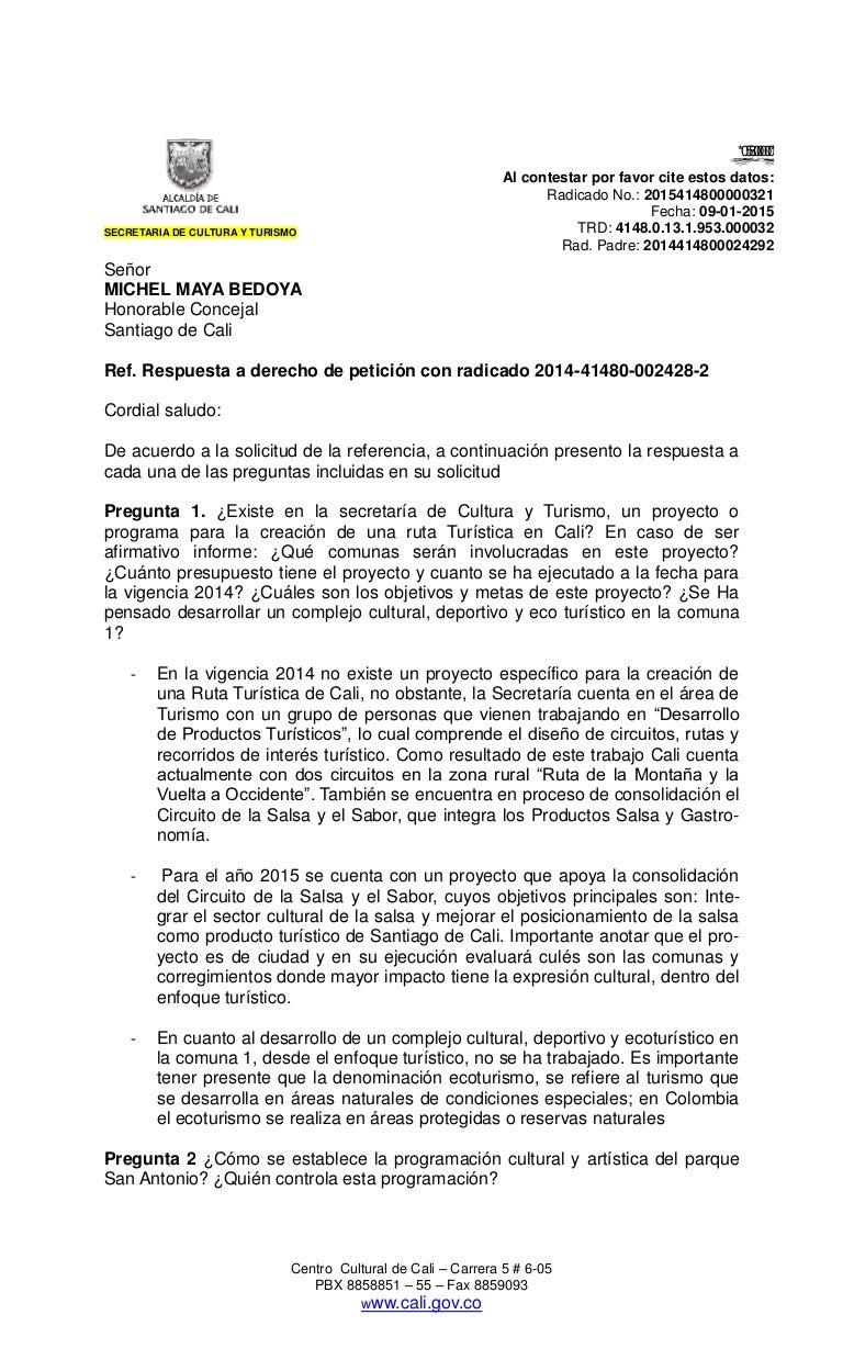 Respuestas DP Secretaría Cultura y Turismo