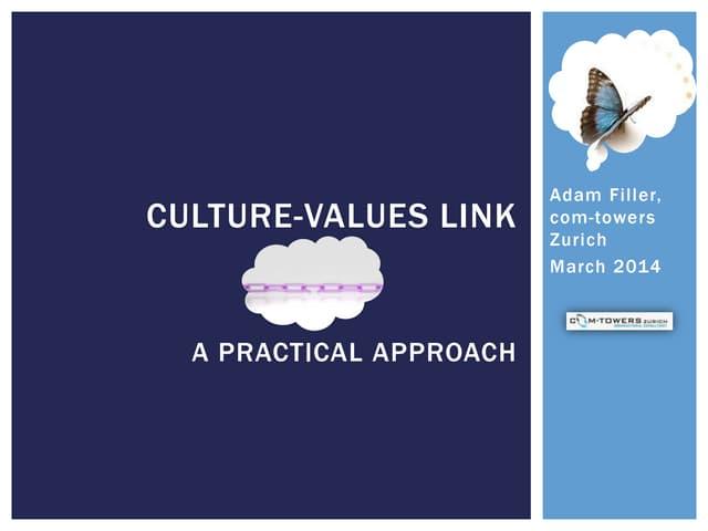 Culture-Values Link, A practical approach