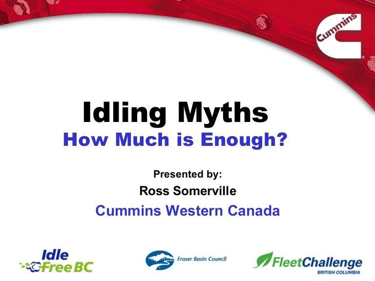 Cummins - IDLING Myths