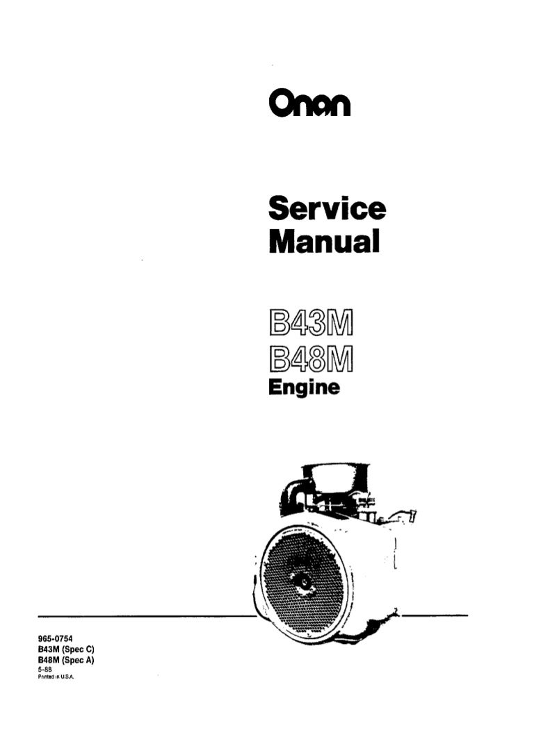 Cummins onan b43 m engine service repair manual
