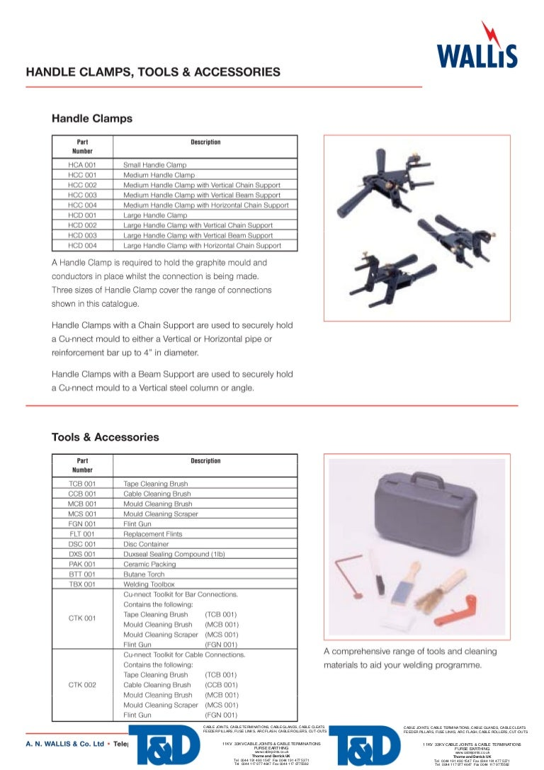 Exothermic Welding Tools Diagram Of