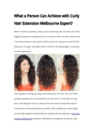 Curly hair extension melbourne