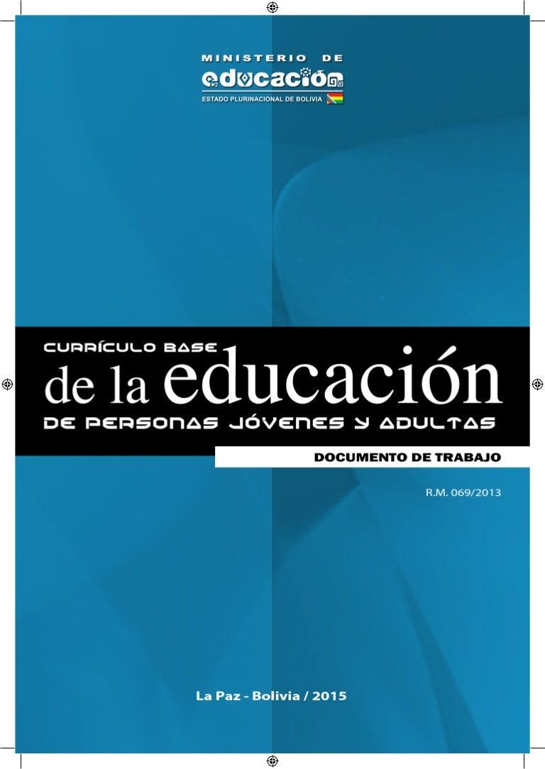 Currículo base de la educación de personas jóvenes y adultos - versió…
