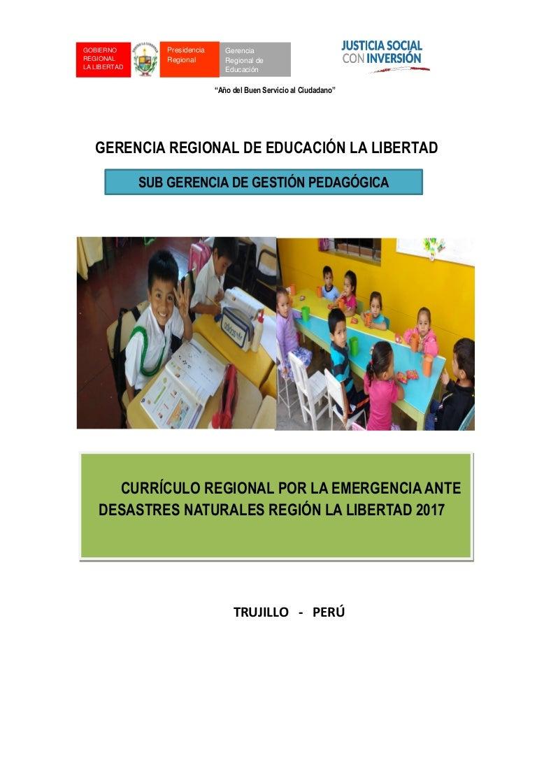 Currículo regional por la emergencia 2017 Gobierno Regional La Libert…