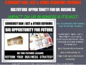 Currency Ban & Other Economic Reforms -  Big Future Opportunity- Change Your Business strategy Today