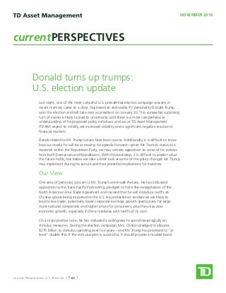 Current Perspectives - US Election
