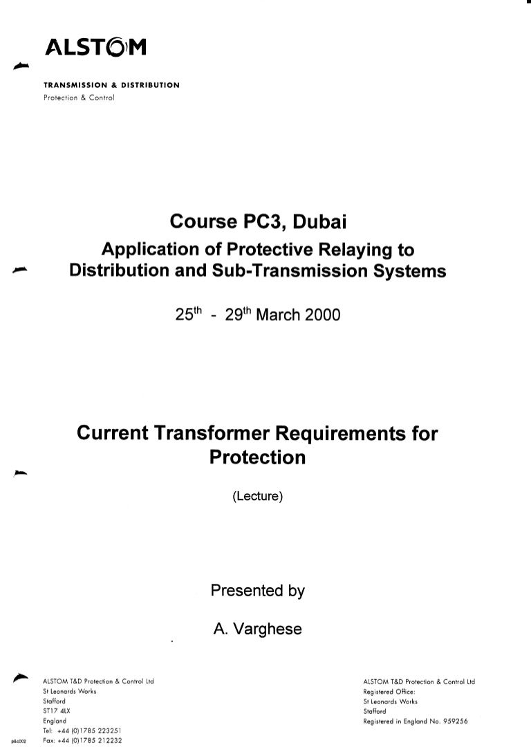 Current Transformer Requirements For Protection 1 How To Increase Currents Of A