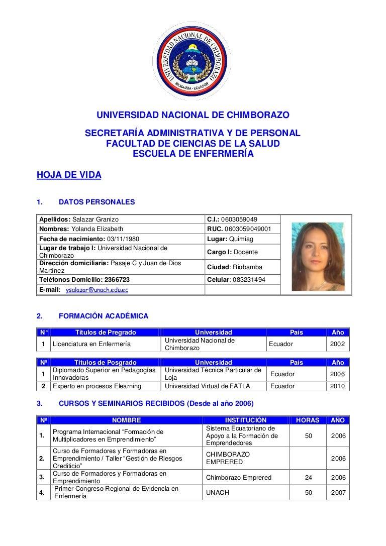Contemporáneo Curriculum Vitae Para La Enfermera Patrón - Colección ...