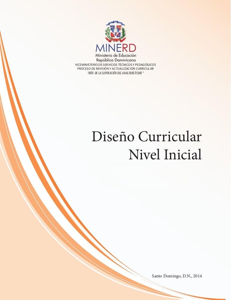 Diseño Curricular Nivel Inicial 2014 Minerd