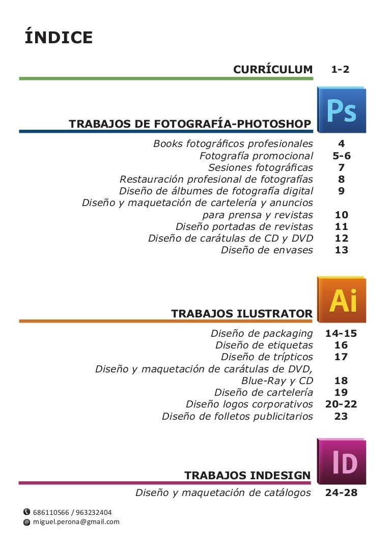 Presentación trabajos Curso diseño gráfico