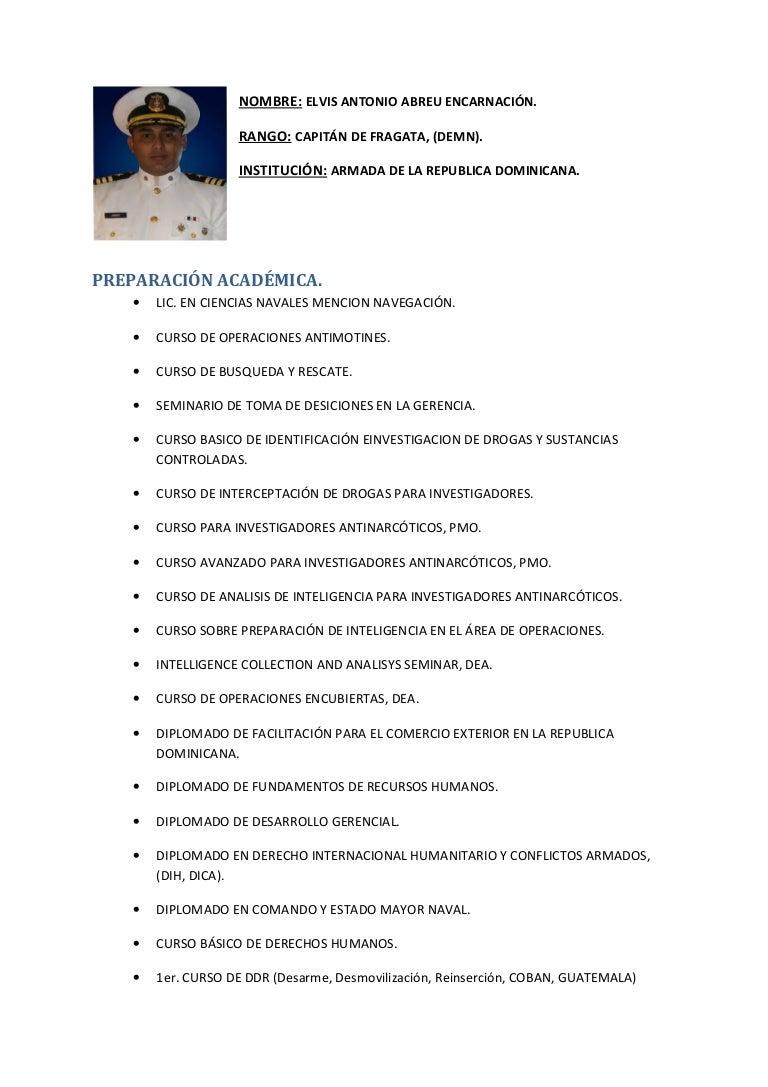 Magnífico Muestra De Currículum Militar Adorno - Ejemplo De ...