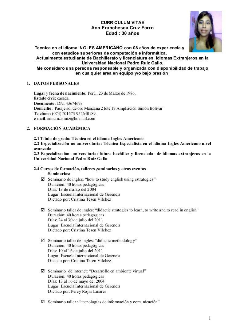 Curriculum ann-franchesca