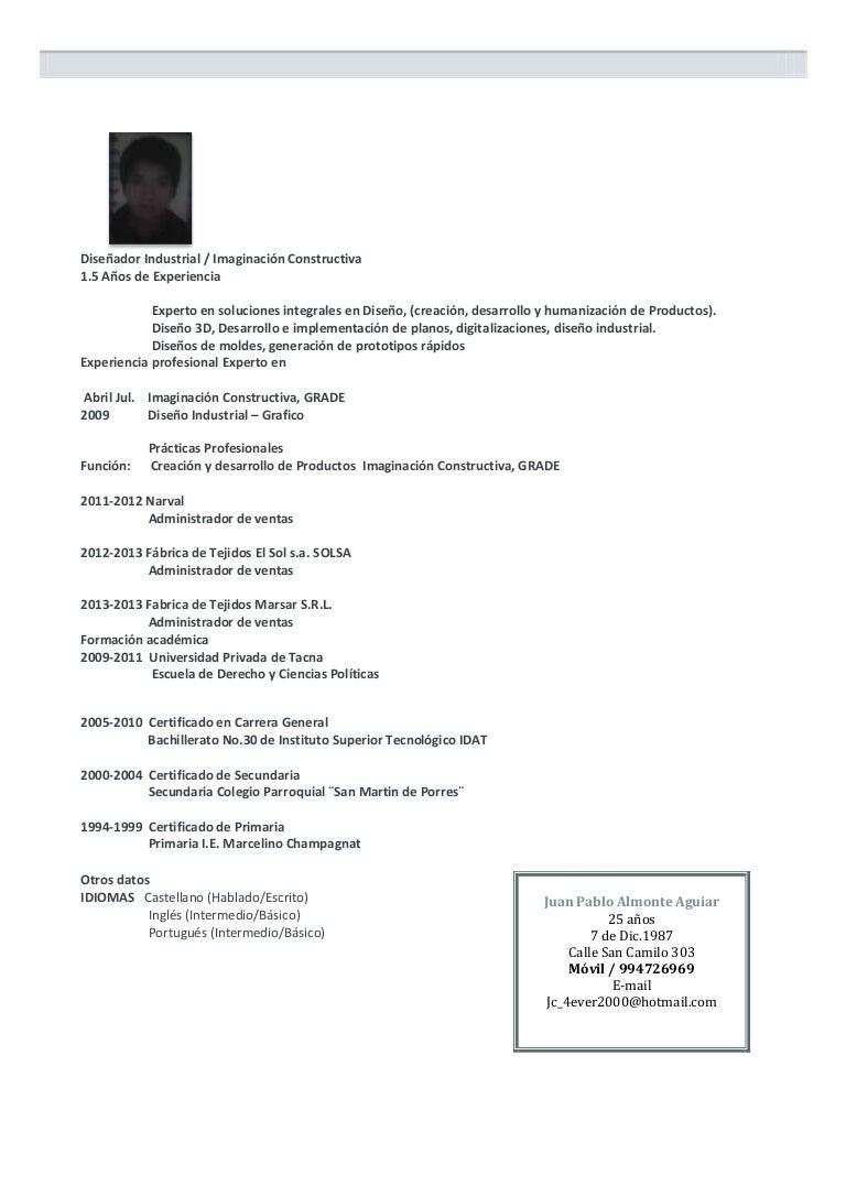 Curriculum de pablo