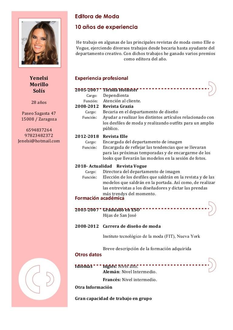 Atractivo Portada Para Muestra De Currículum Fotos - Ejemplo De ...
