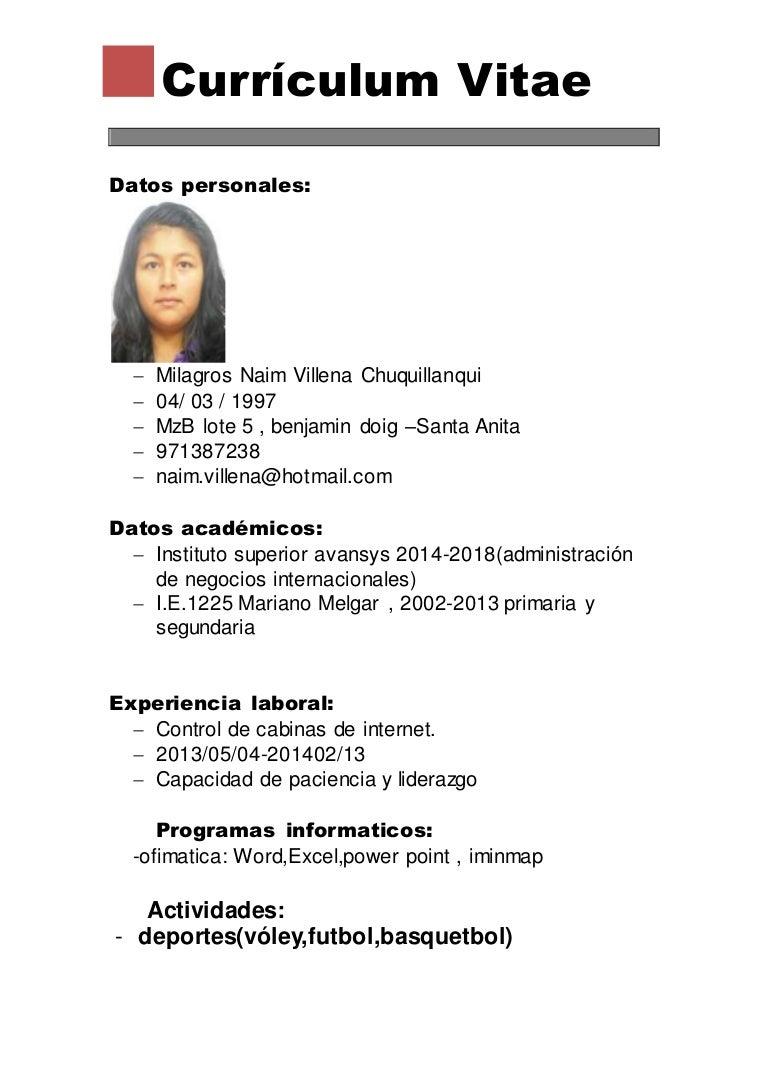 Dorable Formato De Currículum Para Estudiantes De Secundaria ...
