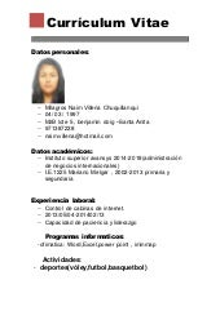 Curriculum Vitae Basico Parareda