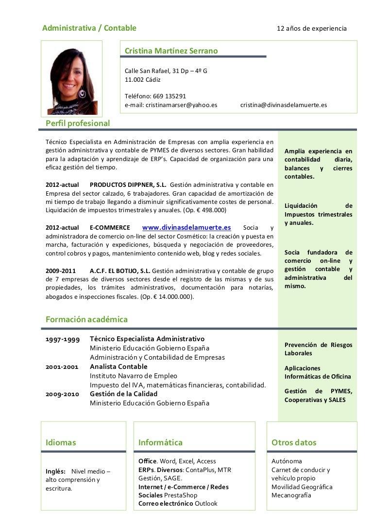 Famoso Experiencia Administrativa Resume Modelo - Ejemplo De ...