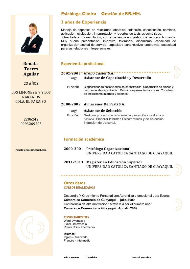 Dorable Ejemplo De Currículum Formato 2013 Ilustración - Colección ...
