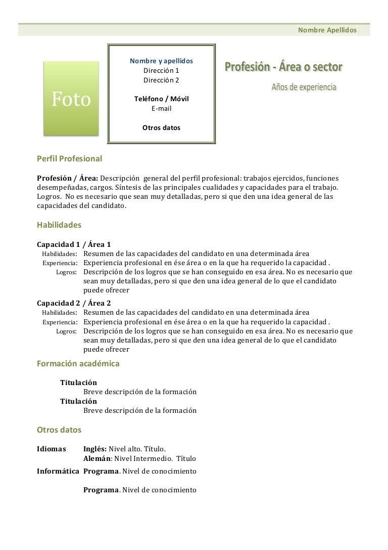 Stunning Formato Curriculum Vitae Filetype Doc Ideas Example