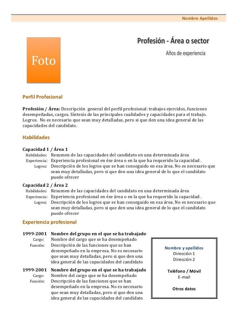 Curriculum vitae-modelo1c-naranja